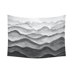 InterestPrint Abstract Wall Art Home Decor, Mountains Painte
