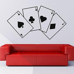 Aces Playing Cards Suits Card Games Wall Stickers Entertainm