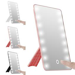 oenbopo Adjustable LED Lighted Vanity Tabletop Mirrors, Smar