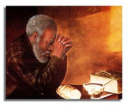 African American Black Man Praying At Dinner Table Daily Bre