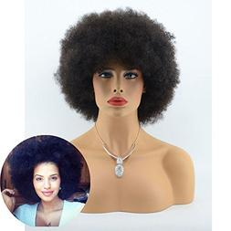 Aliceprincess Afro Kinky Curly Glueless Full Lace Human Hair