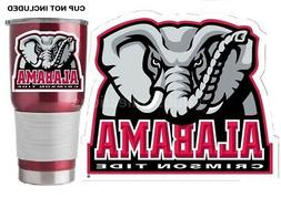 "Alabama Crimson Tide Mascot 3"" Premium Vinyl Decal Sticker f"