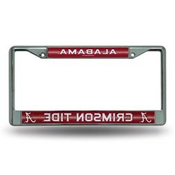 Alabama Crimson Tide NCAA Bling Glitter Chrome License Plate