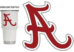 "Alabama Crimson Tide Red A 3"" Premium Vinyl Decal Sticker fo"