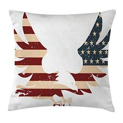 Ambesonne American Decor Throw Pillow Cushion Cover by, Patr