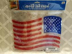 American Flag Window Gel Clings, Patriotic, 8 x 11, New