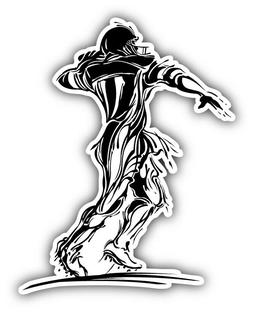 American Football Player Silhouette Car Bumper Sticker Decal