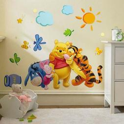 Animal Cartoon Vinyl Wall Stickers For Kids Rooms Boys Girl