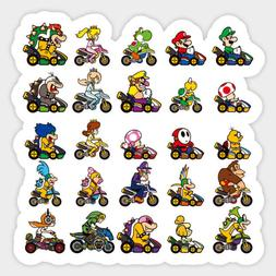 Animal Crossing Mario Kart 8 Deluxe Race Vinyl Decal Sticker