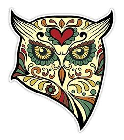OSMdecals - Animal Owl Sugar Skull Sticker Version 40 - Day