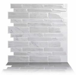 Tic Tac Tiles Anti-mold Peel and Stick Wall Tile in Polito W