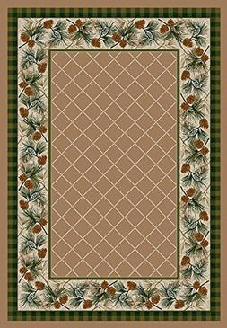 KENSINGTON ROW LAKE AND LODGE COLLECTION AREA RUGS -PINE CRE