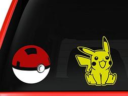 Art's Pikachu and Pokeball approx. 5 inches each car truck S