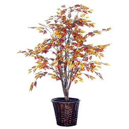 Vickerman 4-Feet Artificial Golden Birch Bush in Decorative