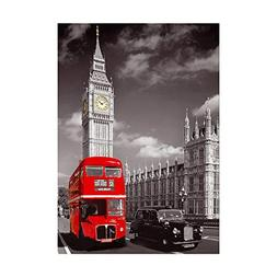 Arts Rakkiss 5D DIY London Car Bus Embroidery Square Diamond