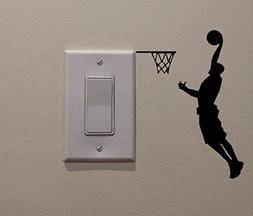 YINGKAI Athletic Basketball Player Dunking on Light Switch D