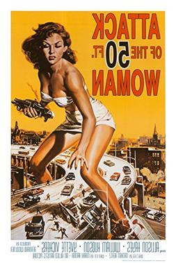 Attack of the 50 ft Woman Poster Print, 24x36 Poster Print,