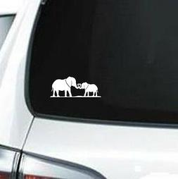 B264 Elephant Love mother daughter son father vinyl decal ca