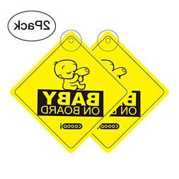 Baby On Board Sticker Car Sign, COOODI Kids On Board Vehicle