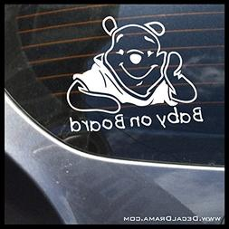 Baby on Board with Winnie the Pooh image Vinyl Car/Laptop De