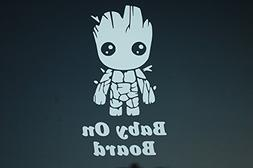 Baby On Board Baby Groot Sticker Vinyl Decal CHOOSE COLOR!!
