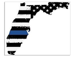 Back The Blue decal - Thin Blue Line - Florida