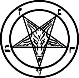 Baphomet Sabbatic Goat Pentagram Pagan Vinyl Decal Sticker-