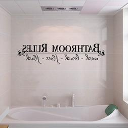 BATHROOM RULES Quote BathRoom Wall Decals Stickers Vinyl Art