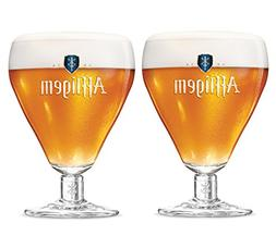 Affligem Belgian Ale Goblet Chalice Beer Glass Two Pack