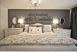 BEST FRIENDS FOR LIFE HUSBAND & WIFE Wall Art Decal Quote Wo