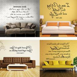 Bible Verse Wall Decals Christian Quote Vinyl Wall Art Stick