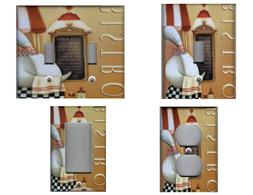 BISTRO FAT CHEF KITCHEN HOME DECOR LIGHT SWITCH PLATES AND O