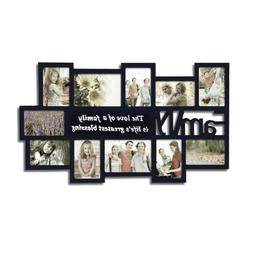 Adeco Black Decorative Wood ''Family'' Collage Wall Hanging