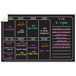 Black Fluorescent Dry Erase Weekly Calendar Decal Multi-colo