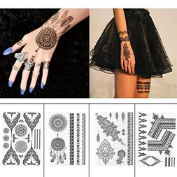 Black Henna Body Paints Temporary Tattoo Stickers Designs fo