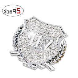 QIMEI Bling Car Decoration Decal 3D Sticker Honorable VIP +