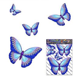 BUTTERFLY Small Blue ANIMAL Vinyl Car Sticker Decal Pack For