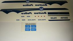 Boston MA Police 1:24 Scale Water Slide Decals Fits police m