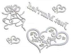 Bridal Car Window Decal Wedding Decoration Emblem Logo Stick