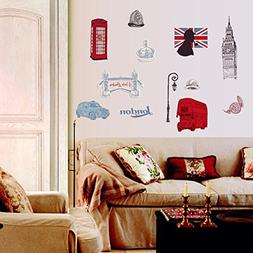 BIBITIME British Style London Wall Decal Sticker Telephone b