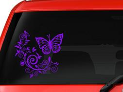 Butterfly and Flower nice design car truck SUV window laptop