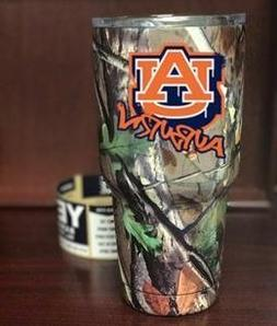 Southern Woods Camo YETIE Rambler Tumbler with Auburn Tiger