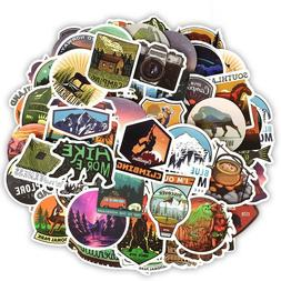 Camping Stickers Bomb Lot Pack Outdoors Hunt Laptop Crafts C