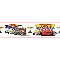 CARS PISTON CUP CHAMPIONS BORDER self stick wallpaper decal