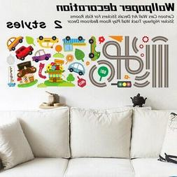 Cartoon Cars Wall Art Decals Stickers For Kids Rooms Sticker