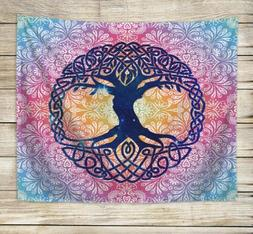 Celtic tree of life boho mandala tapestry cool wall decor