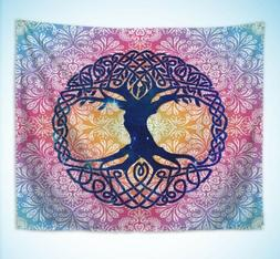 Celtic tree of life boho mandala tapestry tapestry music