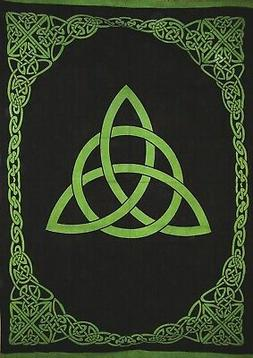 "Celtic Trinity Knot Tapestry Heavy Cotton Spread 98"" x 70"" T"