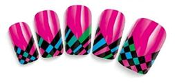 Checkered Flag Design Nail Art Wrap Water Transfer Decals fo
