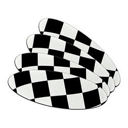 Checkered Racing Flag Double-Sided Oval Nail File Emery Boar